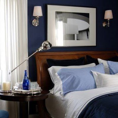 Great Masculine Bedroom Love That Blue Wall Blue