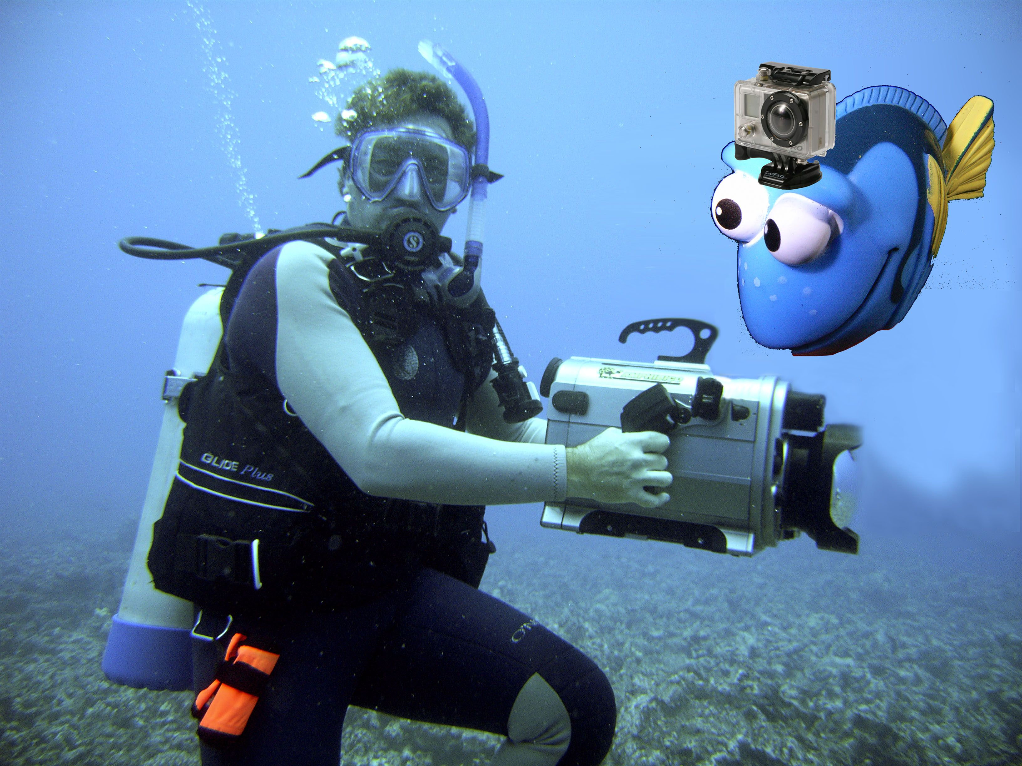 Bill and a friend with his GoPro!