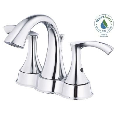 Danze Antioch 4 in. 2-Handle Bathroom Faucet in Chrome-D301022 - The Home Depot