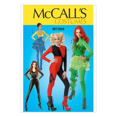 McCall\'s 7269 Sewing Pattern Misses\' Bodysuit / Catsuit Unitard ...