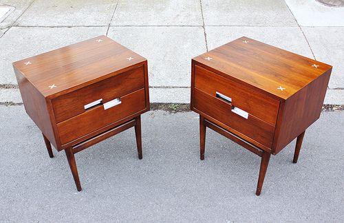 Mid century nightstands mid century furniture for Mid century american furniture