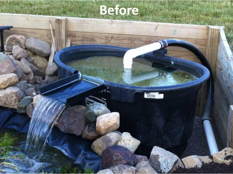 Before 800 600 pixels pond pinterest pond for Pond filter setup