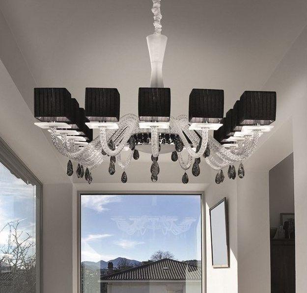 Elegant in black the modern Metropolitan chandelier from Italamp