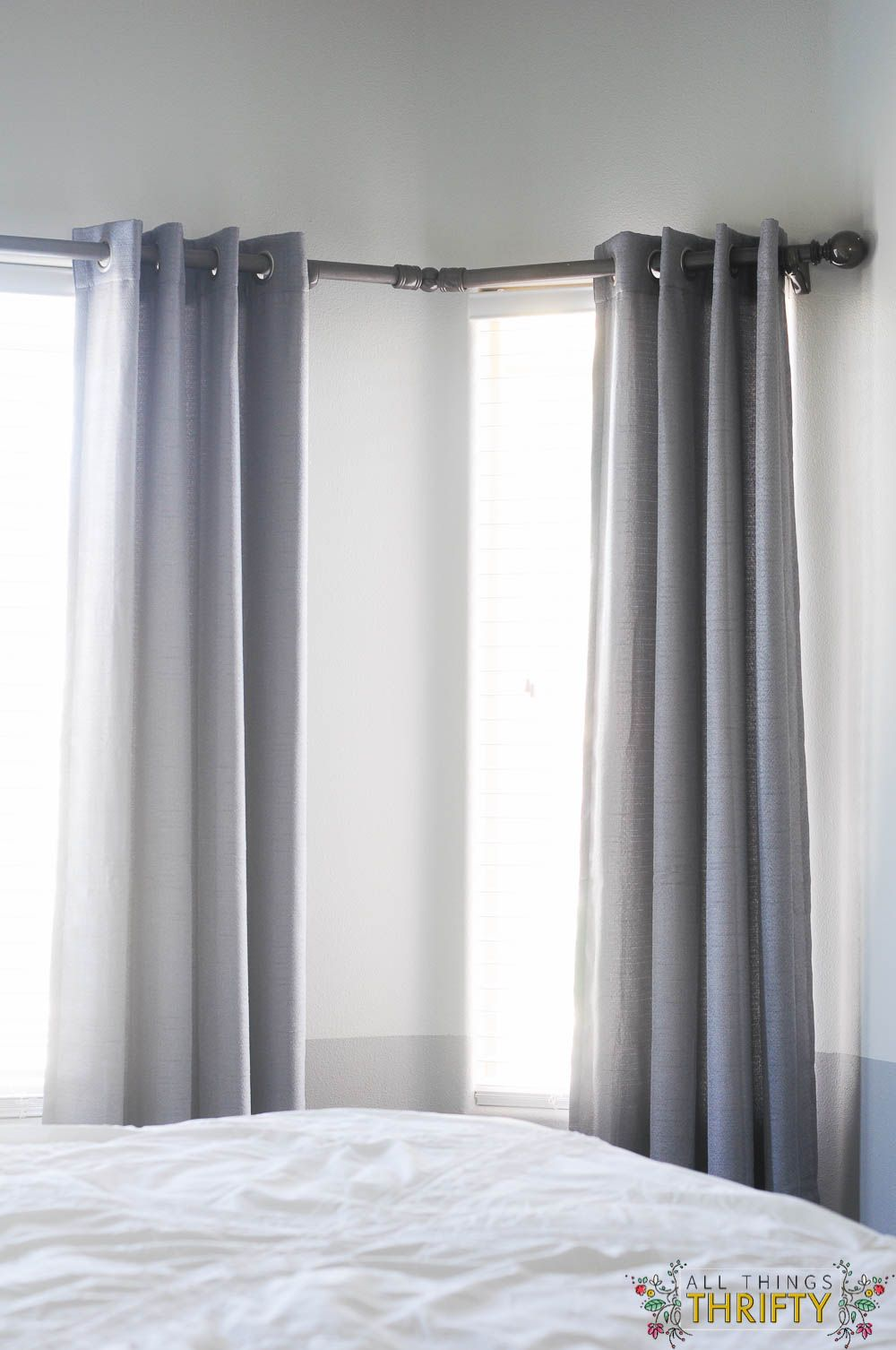 DIY Bay Window Curtain Rod (With images)   Bay window ...