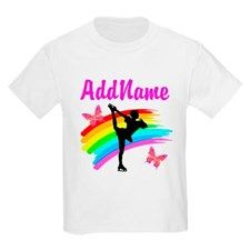 TERRIFIC SKATER T-Shirt Sparkle and shine in these pretty personalized Figure Skating T Shirts.  http://www.cafepress.com/sportsstar/10189550 #Figureskater #IceQueen #Iceskate #Skatinggifts #Iloveskating #Borntoskate #Figureskatinggifts #PersonalizedSkater #SkaterTShirt