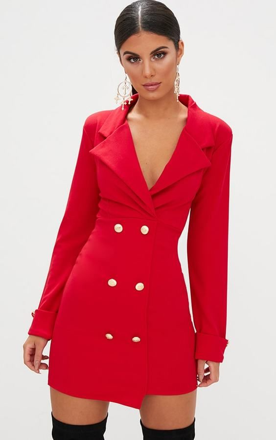 Christmas Party Clothes Ideas Part - 17: Red Blazer Dress | Red Dresses | Party Outfits | Going Out Outfits | Christmas  Party