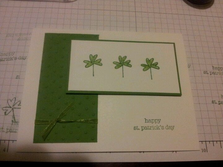 St patrick 39 s day card stampin 39 up craft room yes for Stampin pretty craft room