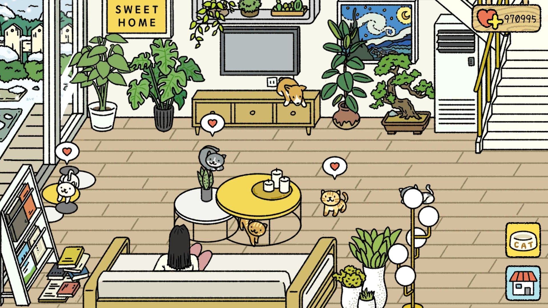 House Decoration Cats Pets Drawing Minimalist Game In 2020