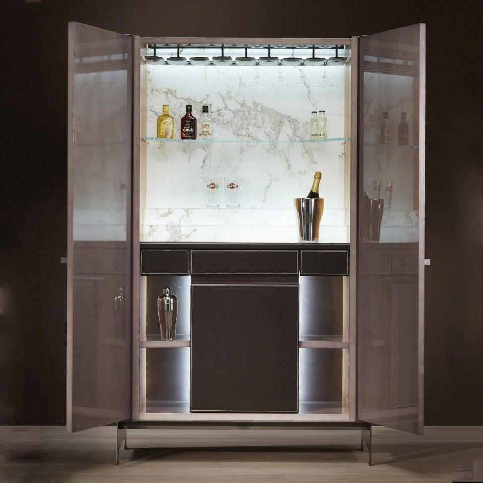 Fun Modern Home Bar Furniture: Him - Luxury Bar Cabinet - Bellavista