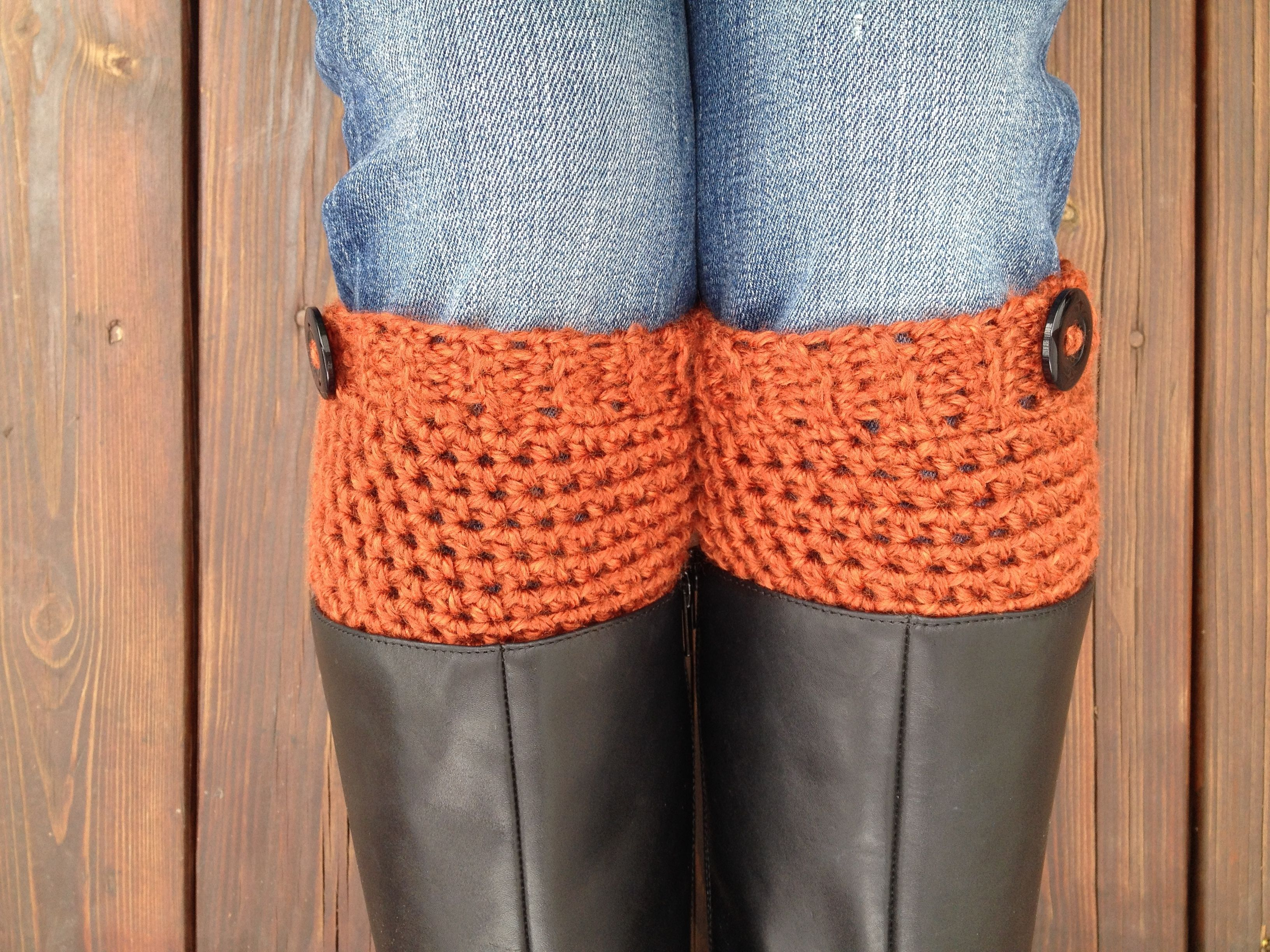 Crochet Boot Cuffs or Boot Toppers—FREE Pattern | Crochet ...