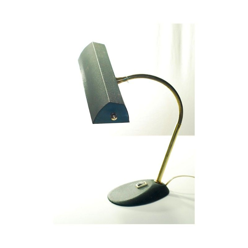 Vintage Desk Lamp In Metal And Brass 1940s Lampade