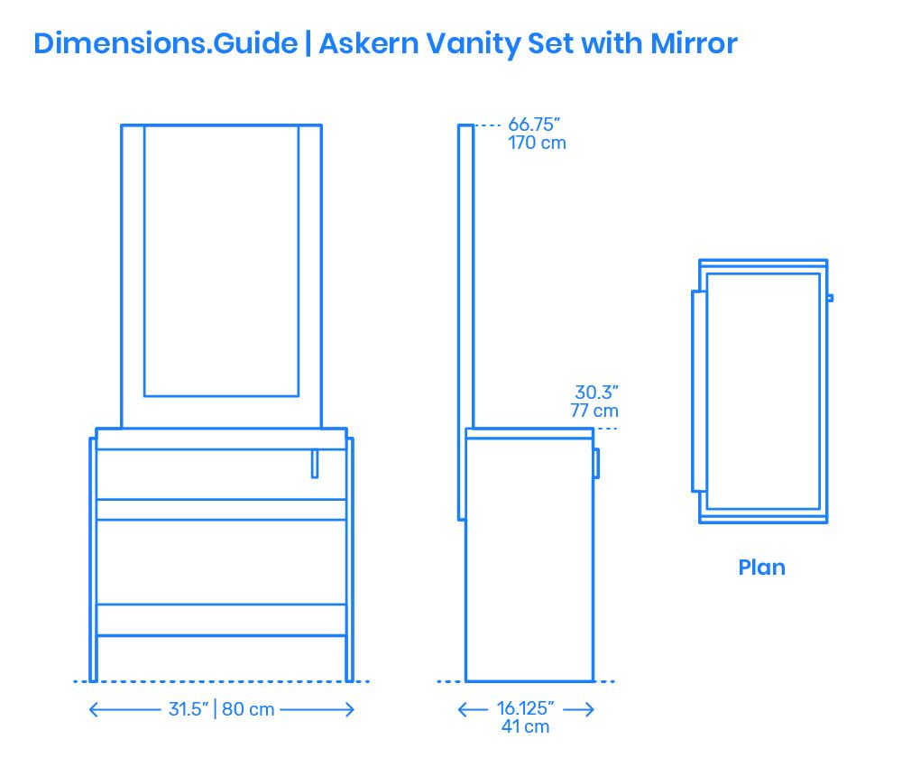 The Askern Vanity Set With Mirror Has A Rectangular Shape With A