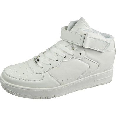 : Air Balance Mens High Top Lace Up Velcro White
