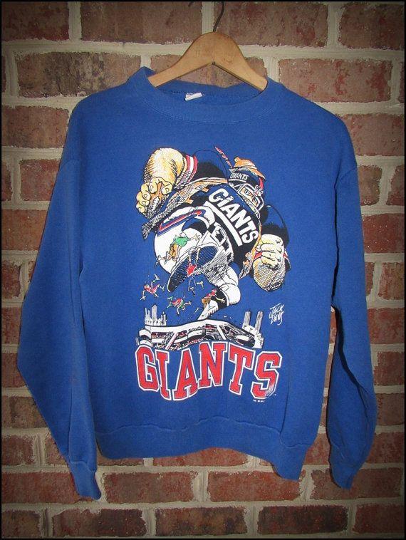 Vintage 80 s New York NY Giants Jack Davis Crewneck by CharchaicVintage edcdcd00a