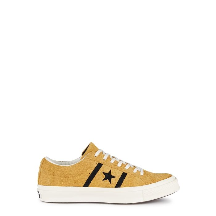 84364b46b0a0 CONVERSE ONE STAR ACADEMY OX YELLOW SUEDE TRAINERS.  converse  shoes ...