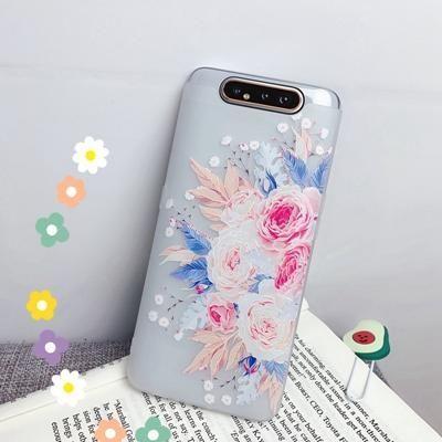Flower Silicon Phone Case For Etui Samsung Galaxy A10 A20 A30 A40 A50