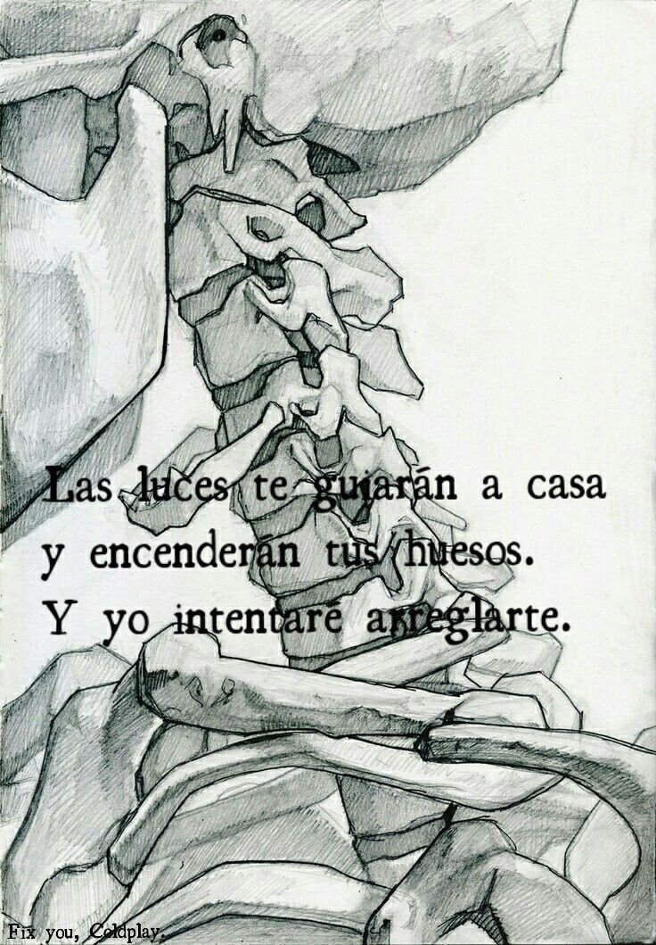 FIX YOU, COLDPLAY   frases canciones   Pinterest   Frases coldplay ...