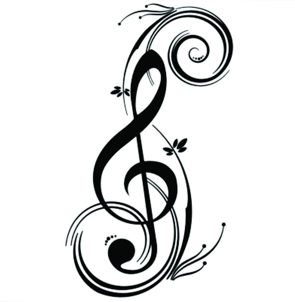 QUÉ BUENA IDEA!!: 136 PLANTILLAS DE TATTOO'S CHULÍSIMOS PARA REGALAR    Tatuaje de notas, Tatuajes de nota de música, Clave de sol