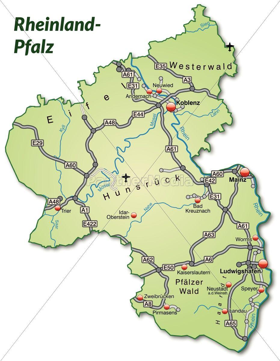 Rheinland Pfalz Map Pfalz Rheinland Mit Bildern Rheinland