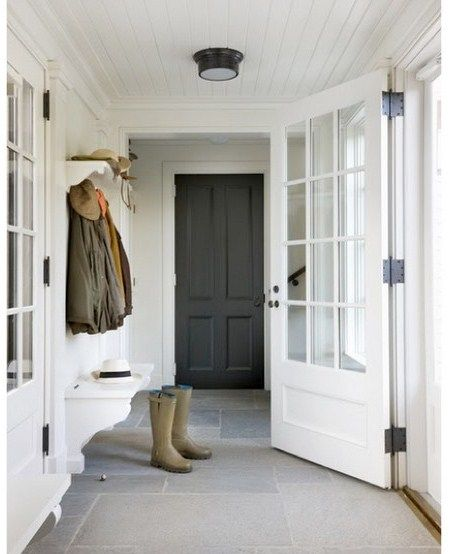 Good Idea For Coats Shoes Bench Outside The Front Door Once I Enclose The Porch Porch