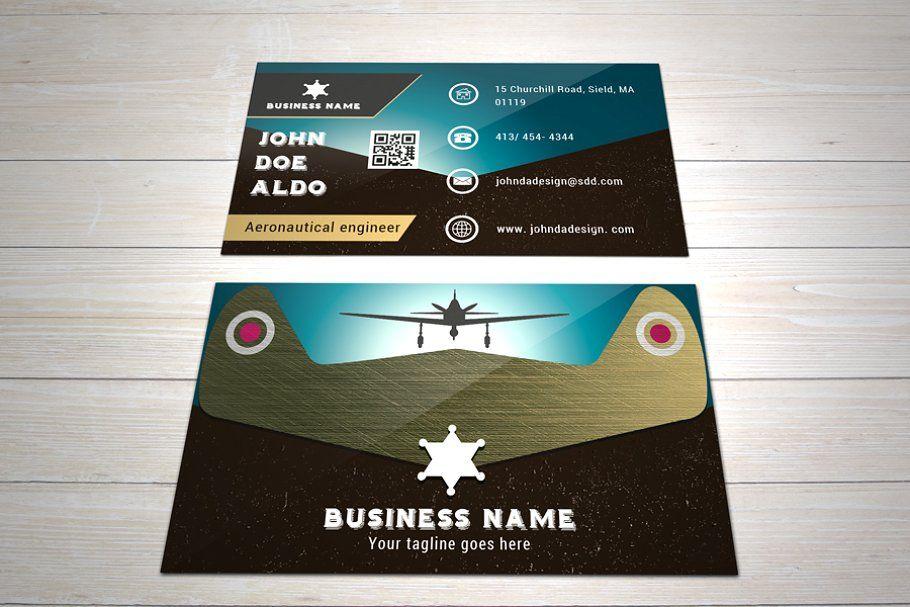 Vintage B Card The Air Conqueror Business Cards Creative Retro Business Card Vintage Business Cards