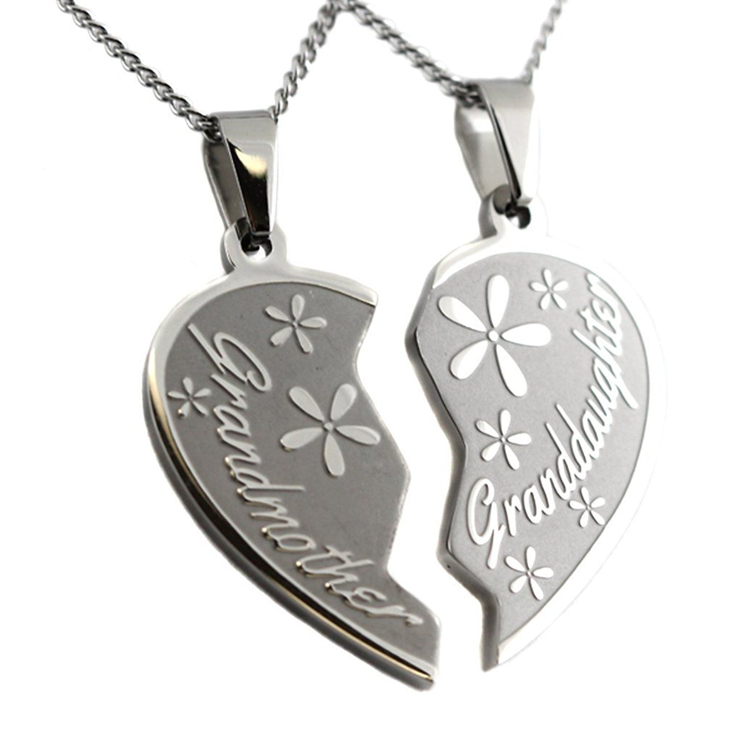 Sterling Silver Heart Necklace Engraved