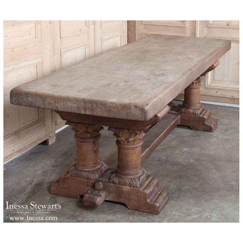 Amazing Used Trestle Tables #9 - Chapter 8 Part 1 Trestle Table- A Large Board(s) Placed On Top Of Two Or  More Trestles. Used For Dining.