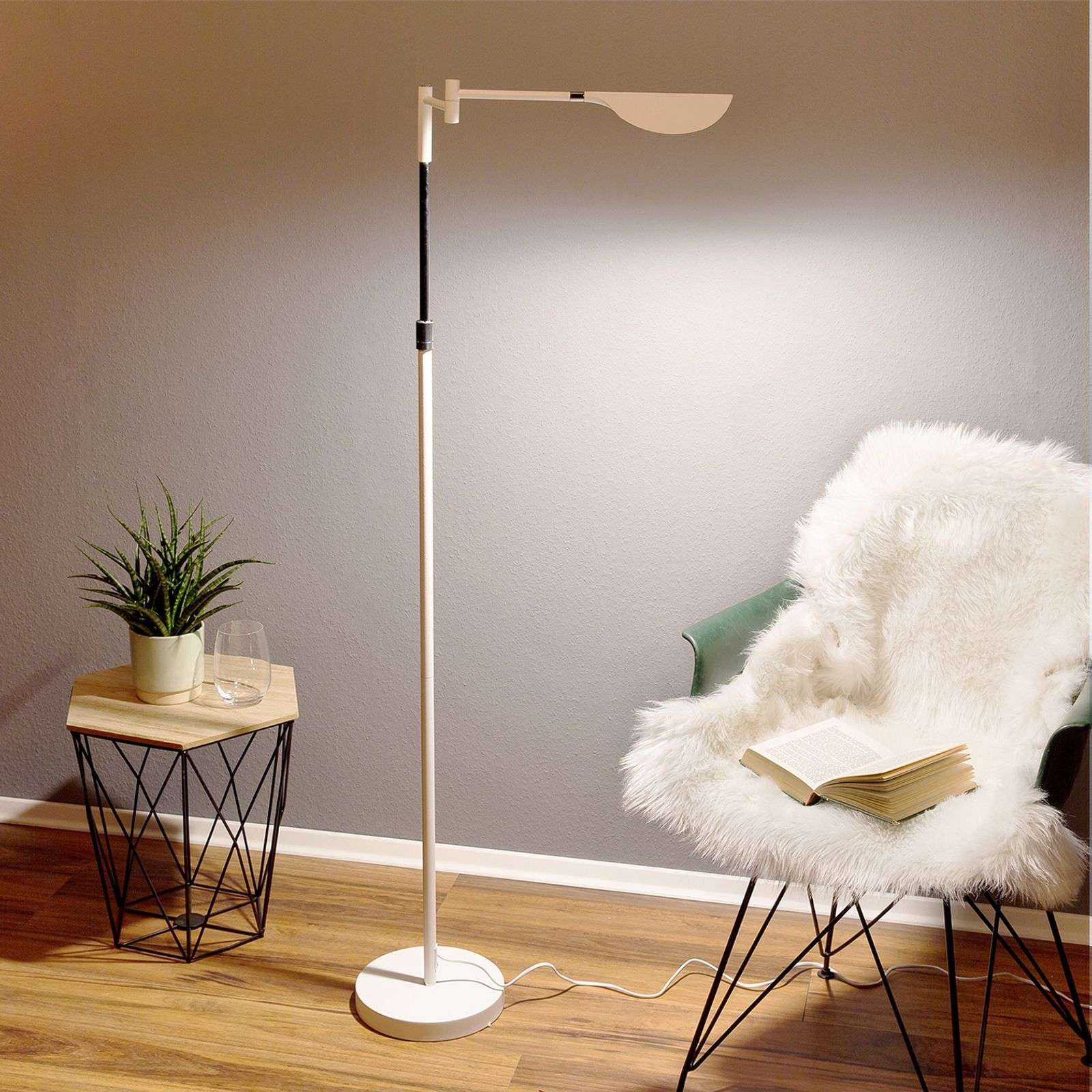 Lampadaire Led Finnley Blanc Mat Dimmable Lampadaire Led