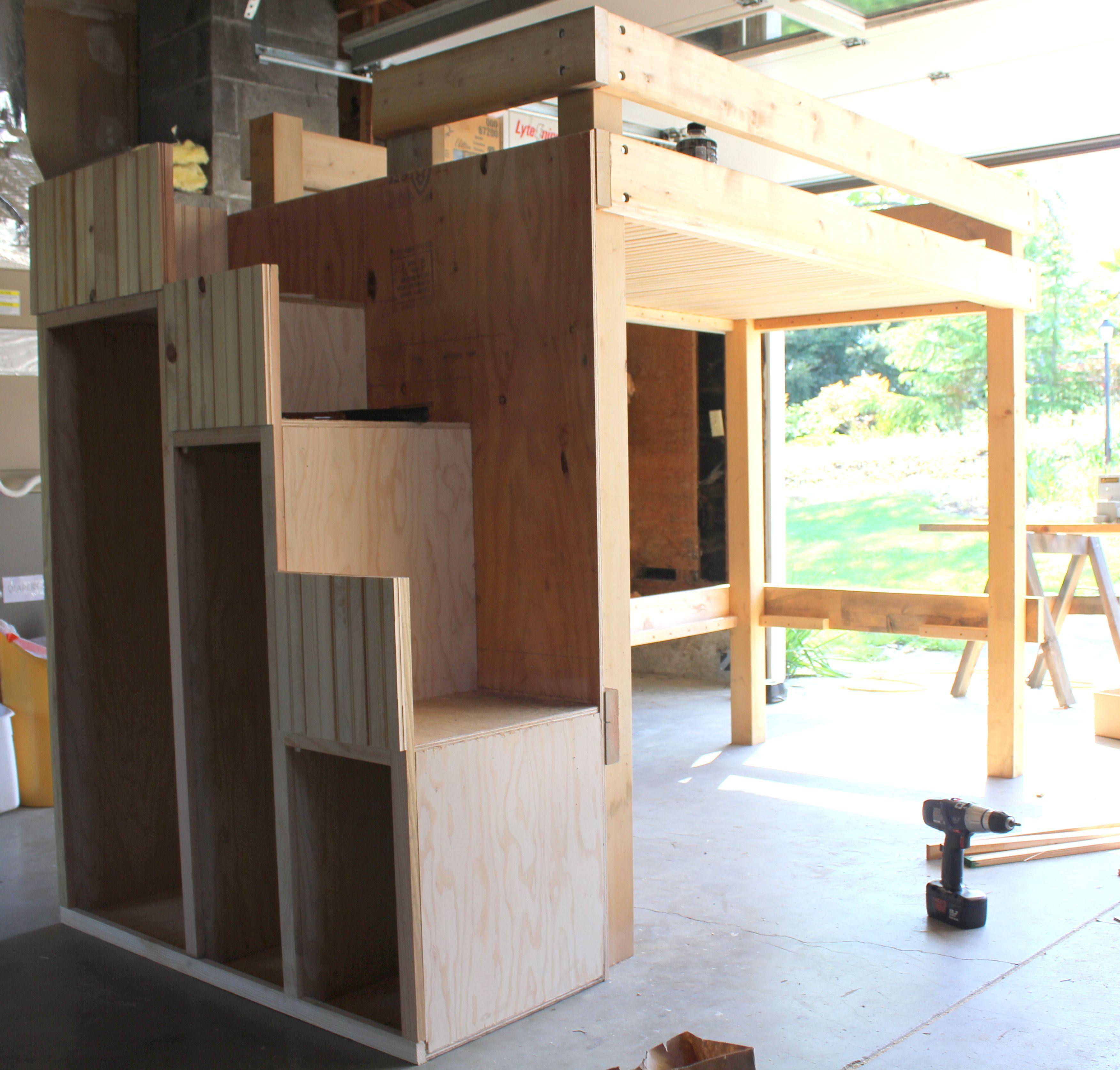 diy bunk beds loft bunk beds bunk bed and lofts. Black Bedroom Furniture Sets. Home Design Ideas