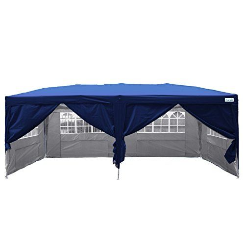 Quictent Silvox Waterproof 20x10 EZ Pop Up Canopy Gazebo Party Tent Navy Blue Portable Style *** Want to know more click on the image.  sc 1 st  Pinterest & Quictent Silvox Waterproof 20x10 EZ Pop Up Canopy Gazebo Party Tent ...