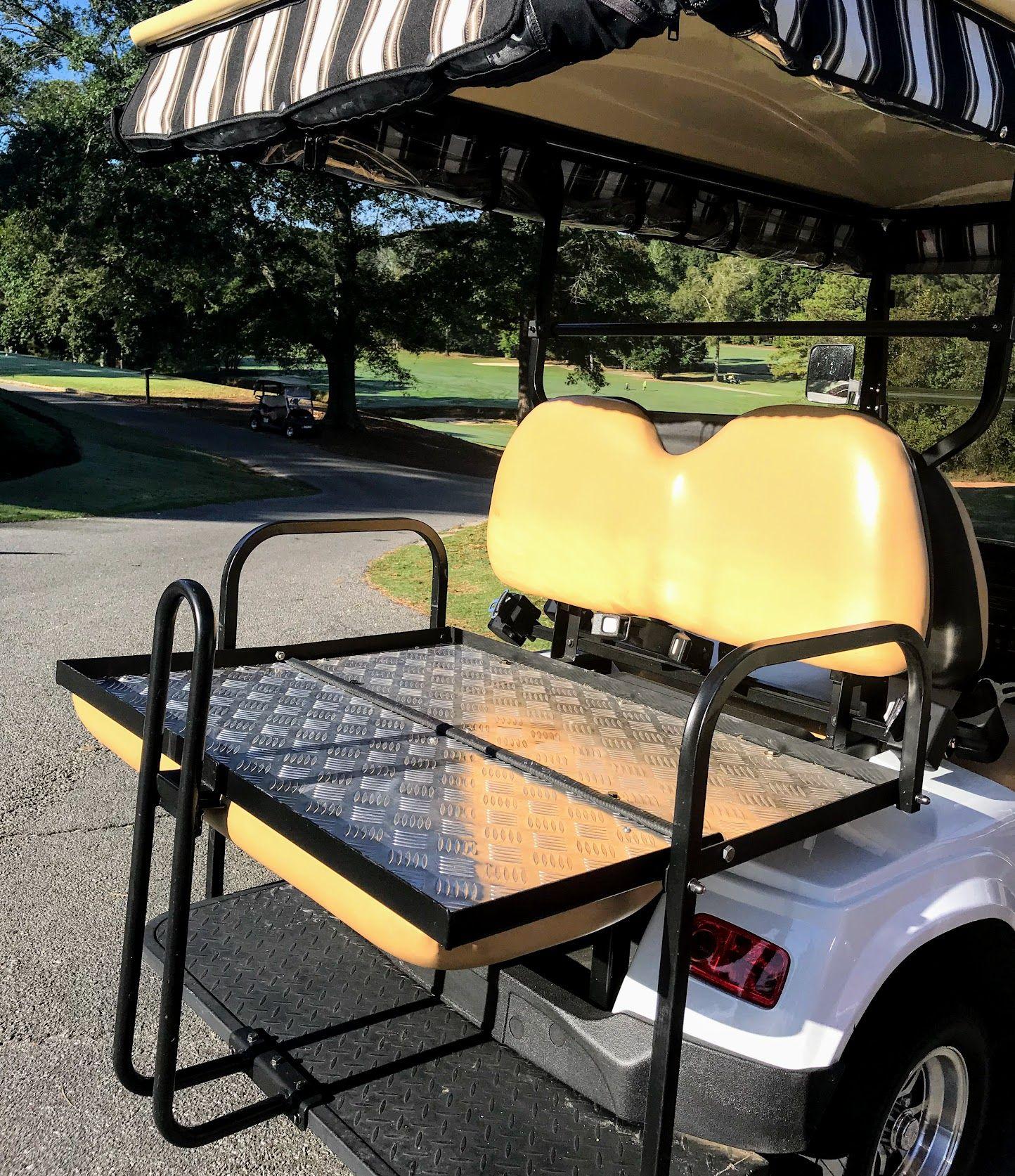 Golf Cart Rear Seat Get A Kit Turn Your Cart Into A 4 Seat Golf Cart Golf Carts Ezgo Golf Cart Golf Cart Seats