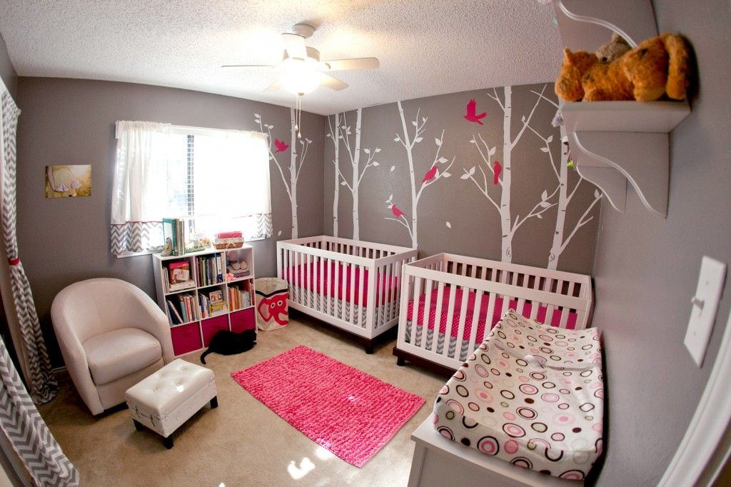 Nursery tour a modern twist for twins dallas moms blog for Nursery room ideas for small rooms