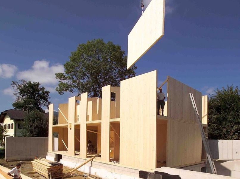 25 best CLT, X-LAM, - cross laminated timber panels   panneaux en