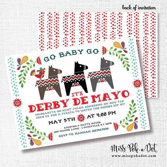 May The 4th Be With You Invitations: Cinco De Mayo Kentucky Derby Party Invitation Printable
