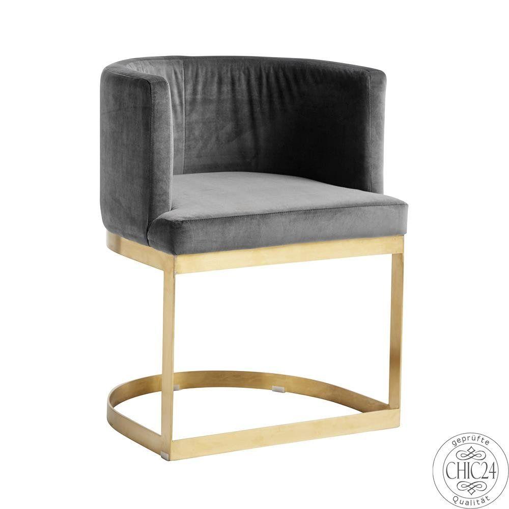 LOUNGE Chair Sessel in grauem Samt, Nordal - chic24 - Vintage Möbel ...