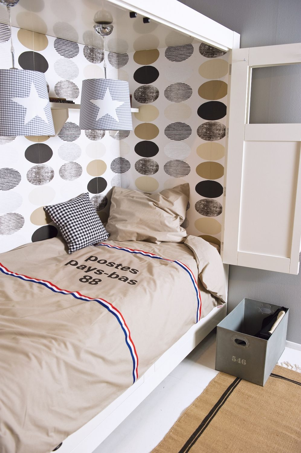 Dekbedovertrek met een #postzak print. Stoer voor de #kinderkamer! | Duvet cover with postbag print for the #kidsroom