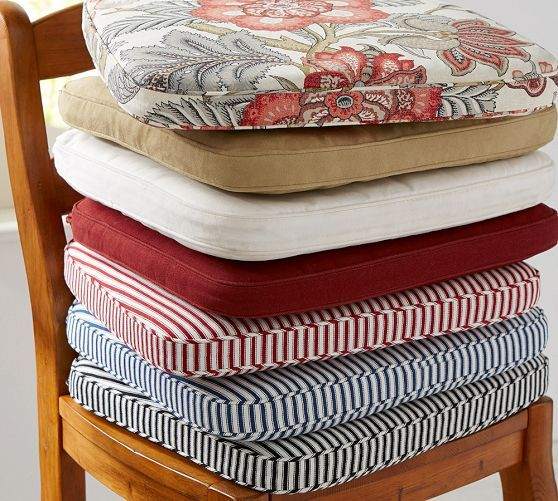 dining room chair pads and cushions high definition pics | PB Classic Dining Chair Cushion | Kitchen chair cushions ...