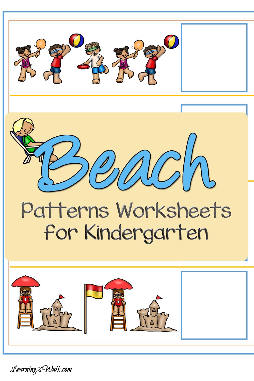 Beach Patterns Worksheets for Kindergarten   Pinterest
