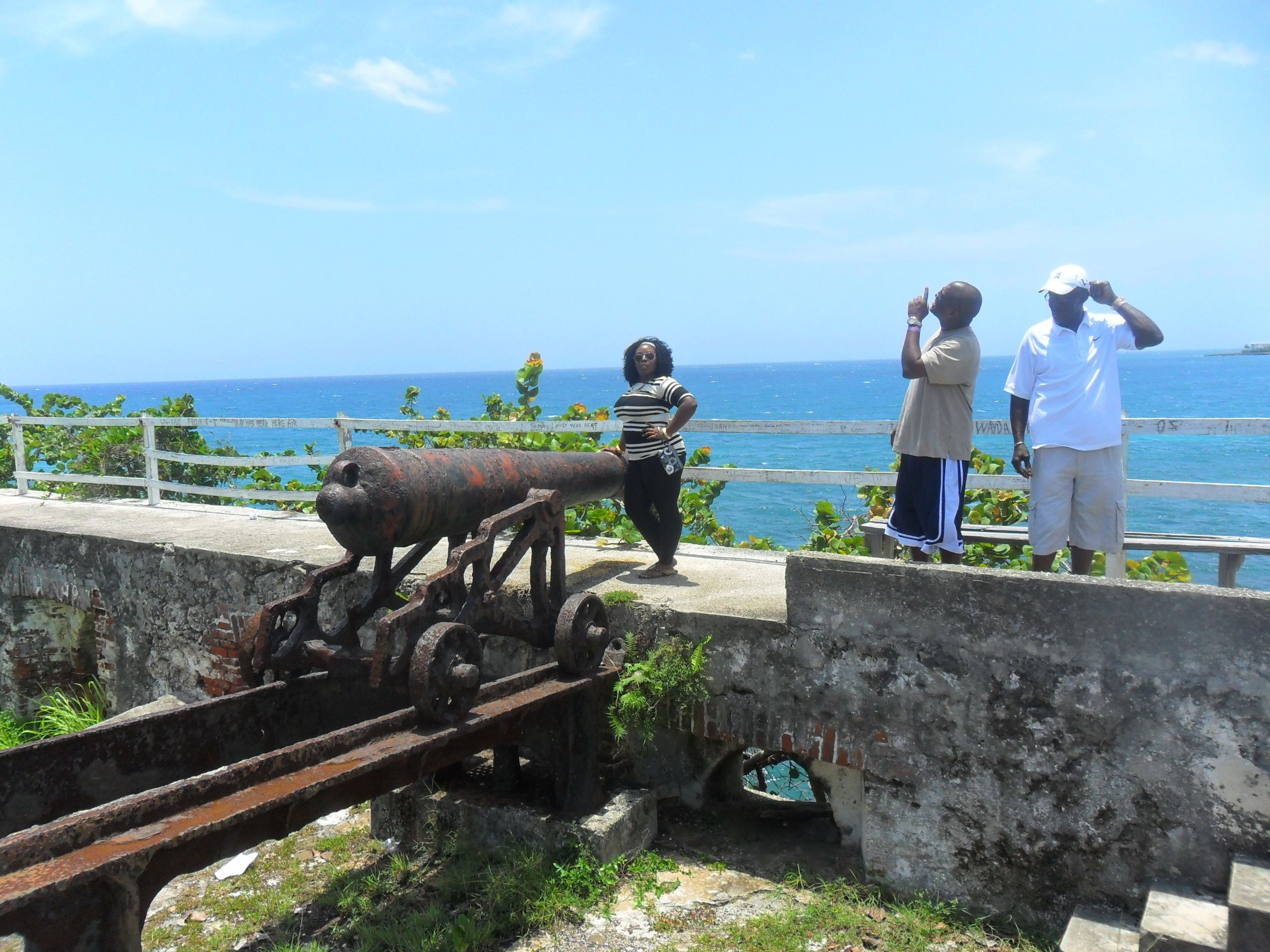 Me in Jamaica at the Fort.