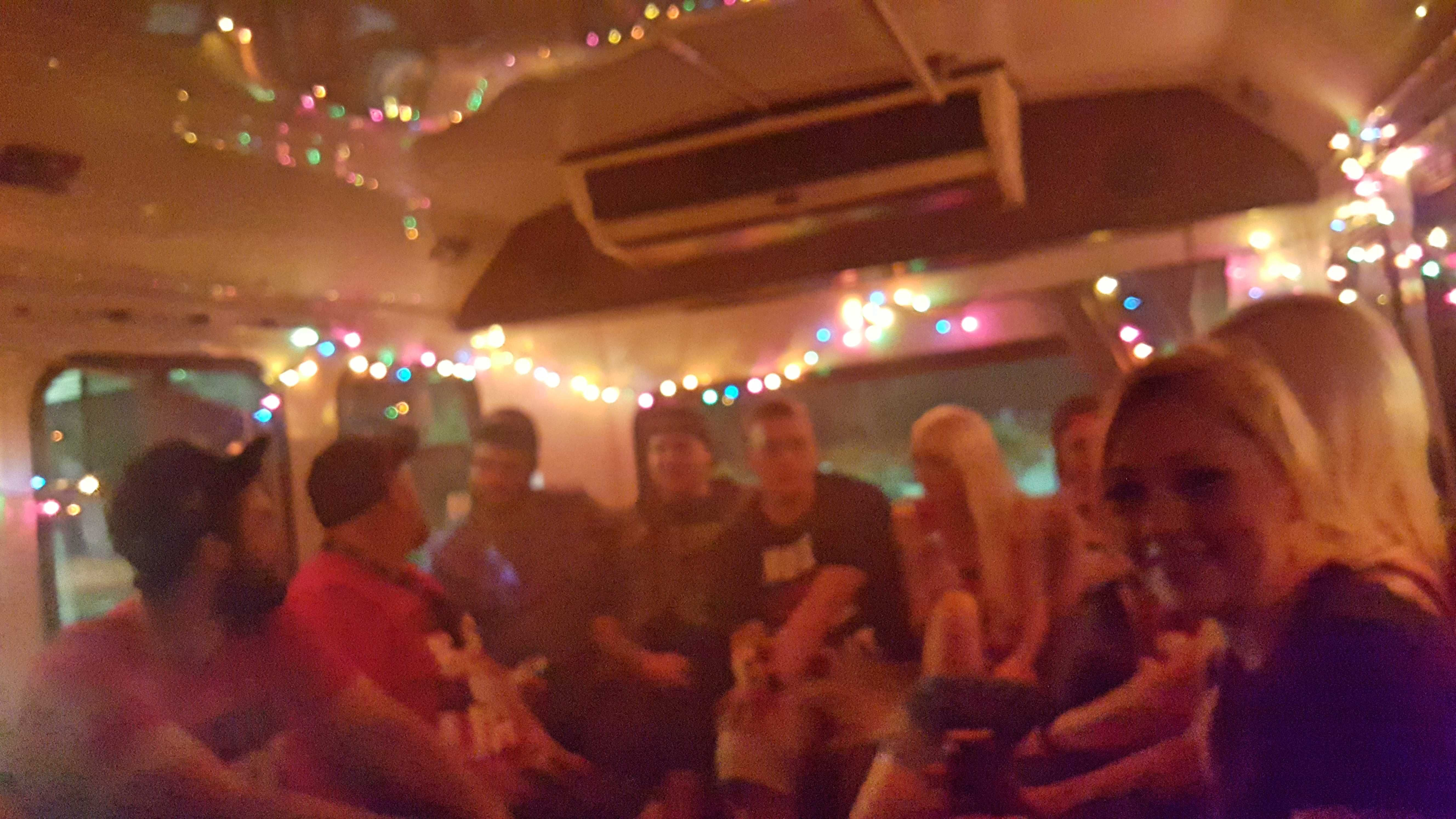 Friends from Utah #PartyBus
