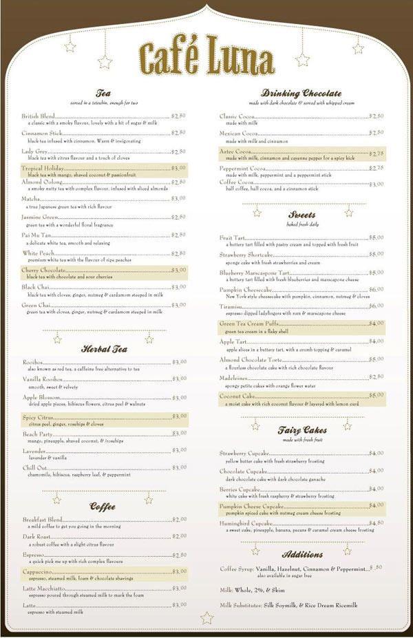 Birds Eye Restaurant Food Menu