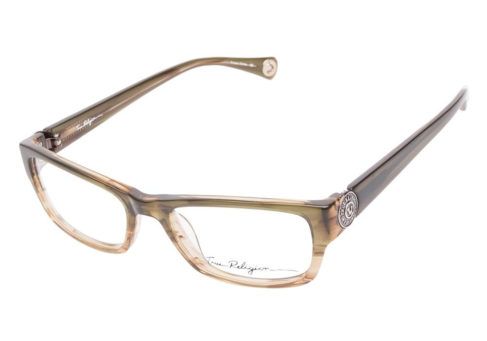 True Religion Tara Olive Fade eyeglasses are naturally spirited ...