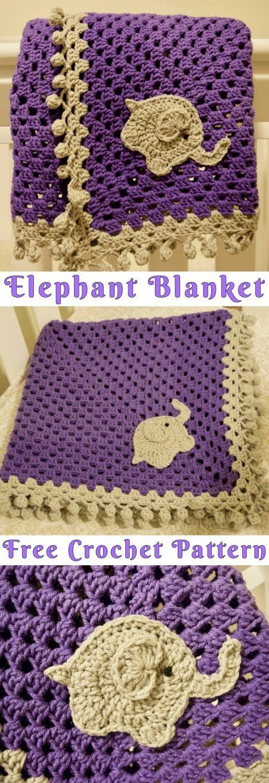 Elephant Blanket Free Crochet Pattern Crochet Pinterest