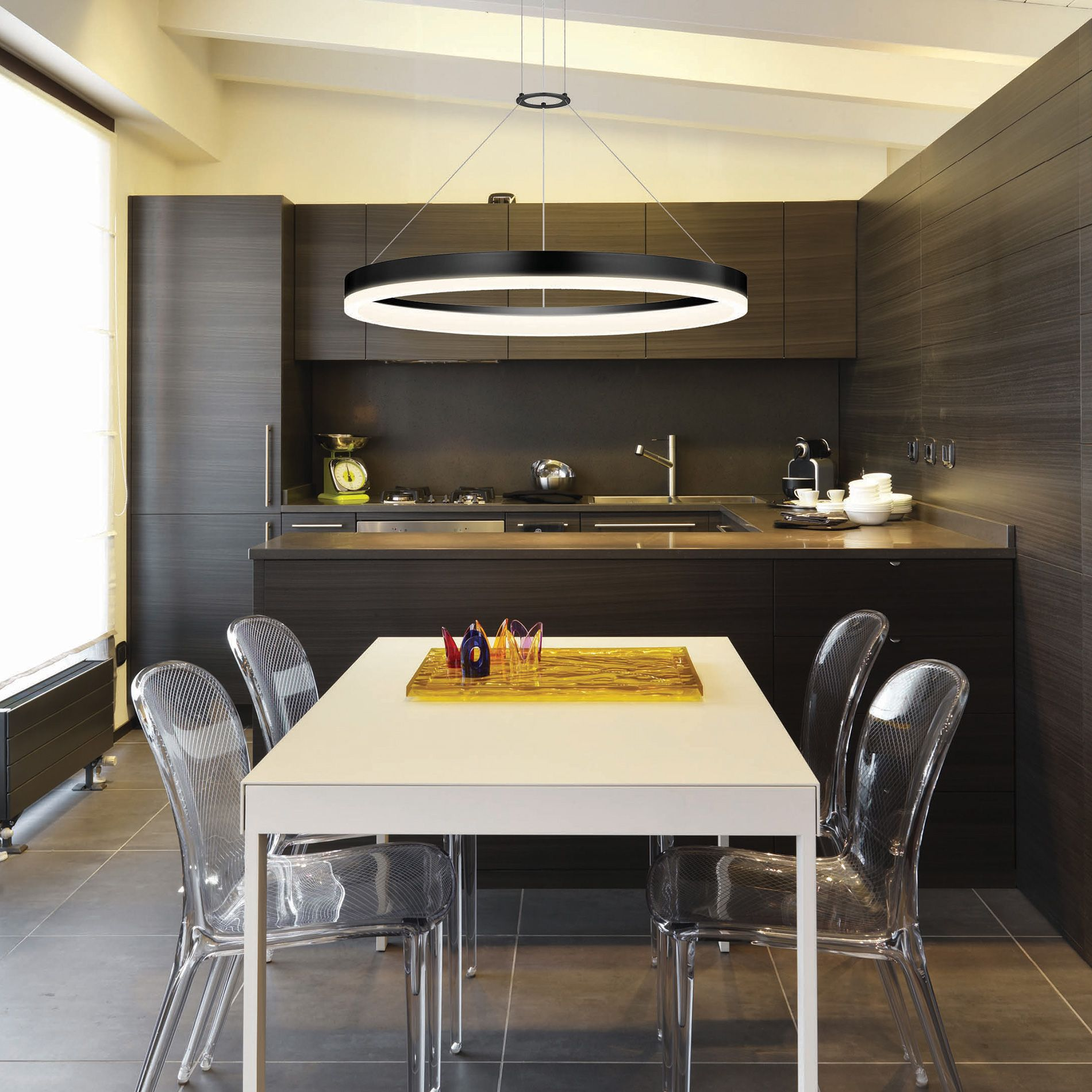 6 Tips For A Kitchen You Can Love For A Lifetime: Corona LED Ring Pendant By SONNEMAN Lighting