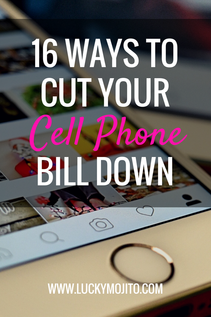 An extensive list of ways to cut your cell phone bill down that you probably haven't thought of. #cellphone #savemoney #frugal #debt #debtfree #bills