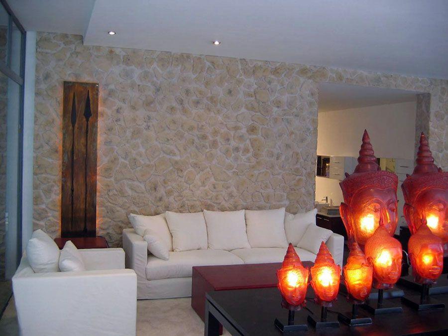 Steinwand Ausstellung Wandgestaltung Wohnzimmer Pinterest - wohnzimmer mit steinwand