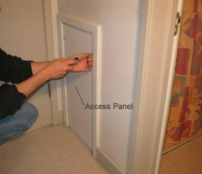 Create Framed Drywall Access Panels To Replace Our Old Painted Wood