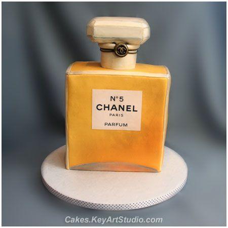 Chanel 5 Perfume Pasteles Tortas