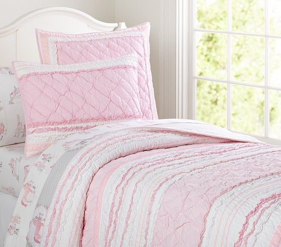Brigette Ruffle Quilted Bedding Ruffle Quilt Girls Bedding Quilt Girl Beds