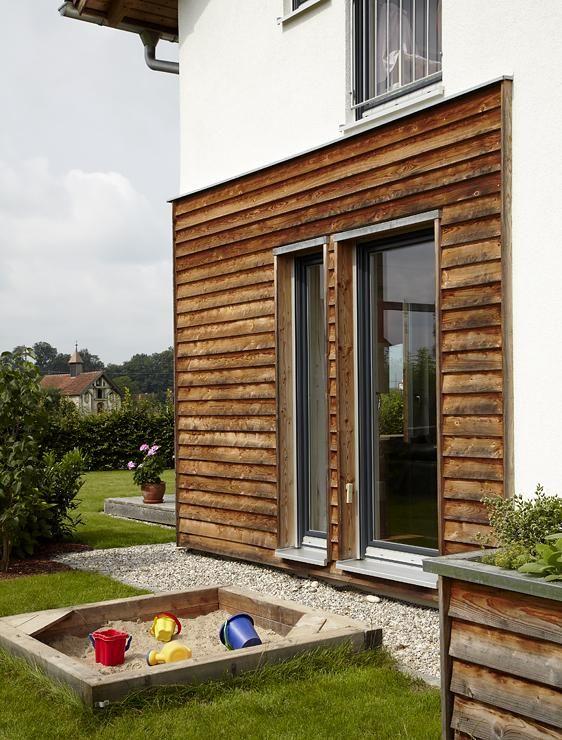 Gartenzugang von der Küche aus Hausfassade, Haus, Haus umbau